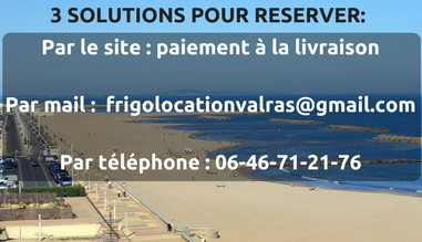 location frigo valras serignan vendres